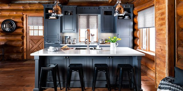 log home kitchen designs. before and after: a rustic log cabin in canadian cottage country home kitchen designs
