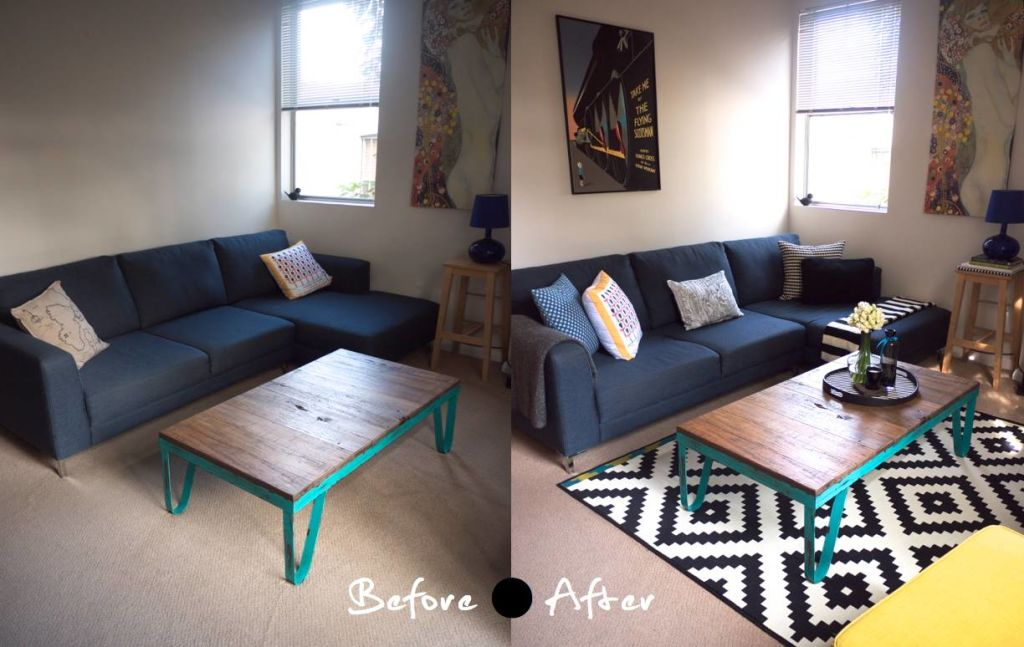Budget makeovers small change makeovers - Before and after the spectacular change of a s living room ...
