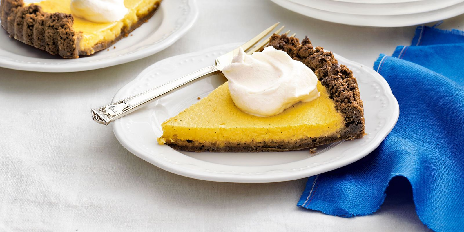 Meyer Lemon Tart with Gingersnap Crust and Almond Whipped Cream Recipe