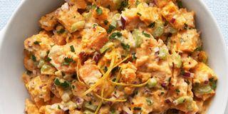 Sweet Potato Salad with Lemony Buttermilk Dressing