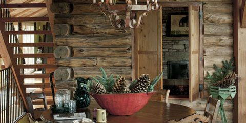 log cabin house tour decorating ideas for log cabins - Log Cabin Living Room