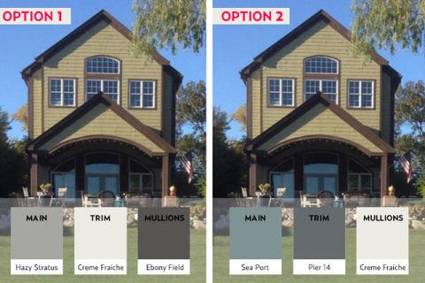Lake home exterior paint colors valspar color connect app for Home exterior makeover app