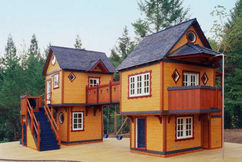 Barbara butler playhouses amazing playhouses for Used kids playhouse