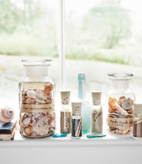 How to decorate with seashells decorating with shell crafts - Diy projects with seashells personalize your home ...