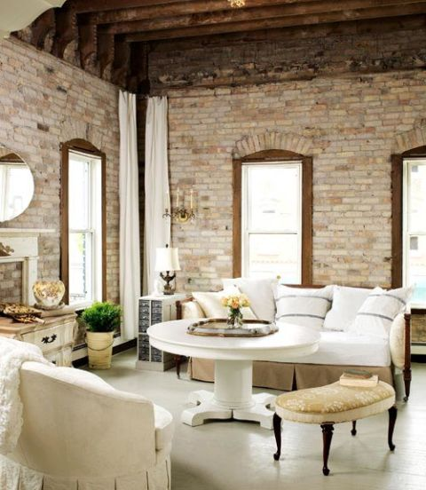 Original Features. Exposed Wooden Beams And Brick Give This Living Room ... Part 60