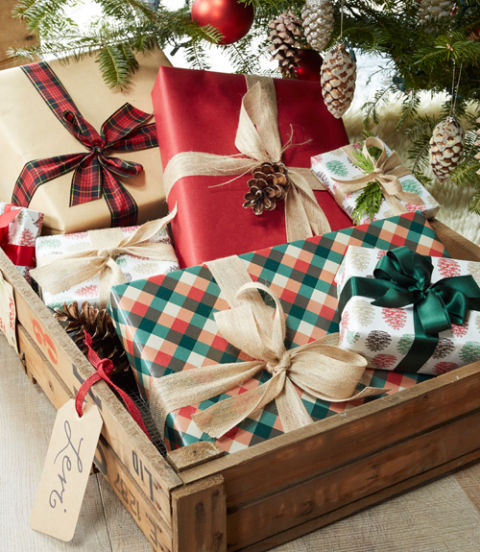 Swap out stockings for vintage crates! Give each guest a special delivery on Christmas morning by coralling gifts in tagged shipping crates under the tree.