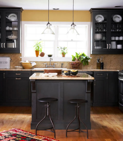 Black And Gold Kitchen: Decorating With Yellow
