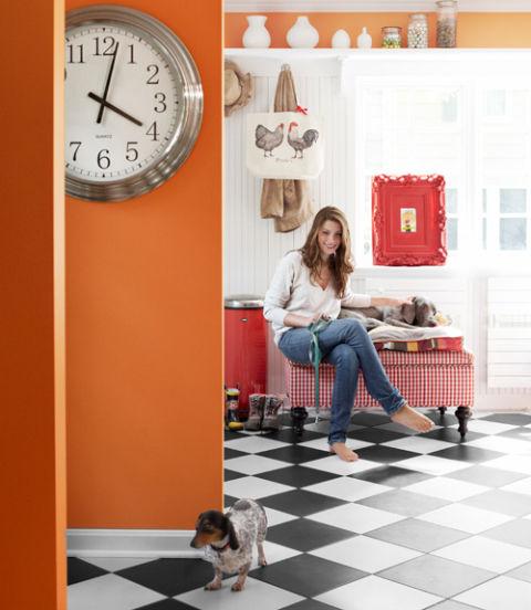 Kansas Colonial Home Renovation Colorful Home Paint Ideas
