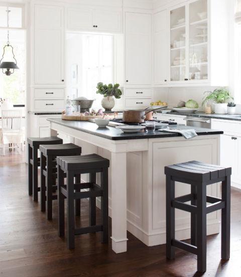White Kitchen Dark Floors: Anne Favret And Bill Gallagher House