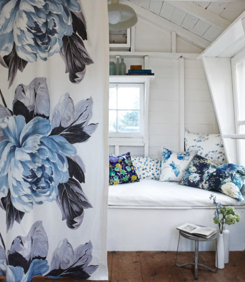 Blue And White Decor Blue Botanical Home Accessories