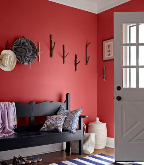 Red Colour Wall: How To Decorate With Dark Paint