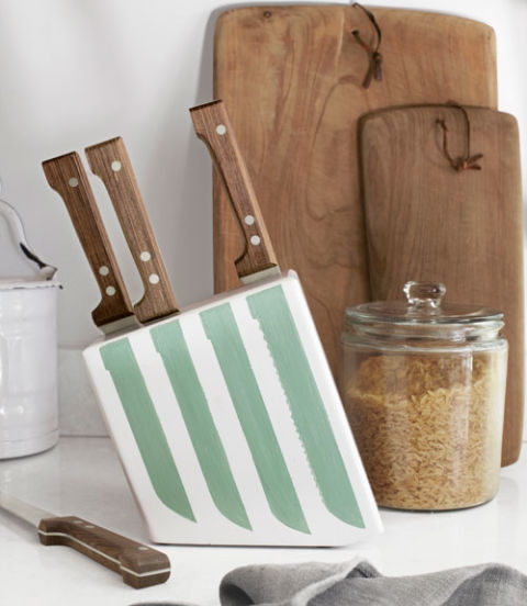 Painted Knife Block: DIY Kitchen Projects