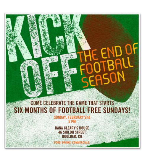 15 Free Super Bowl Party Invitations 2017 Football Party Invites – Super Bowl Party Invite