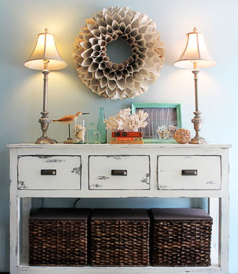 Entry Table With Storage banish entry table clutter - diy entryway organization ideas