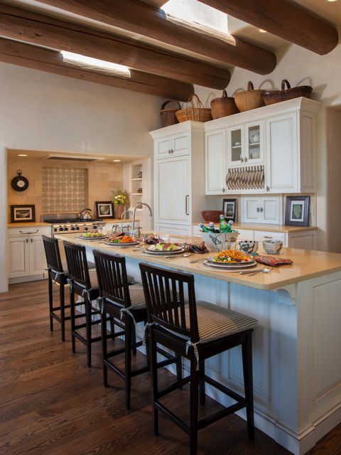 Santa fe new mexico adobe home southwestern decorating ideas for Native kitchen designs and decors photos