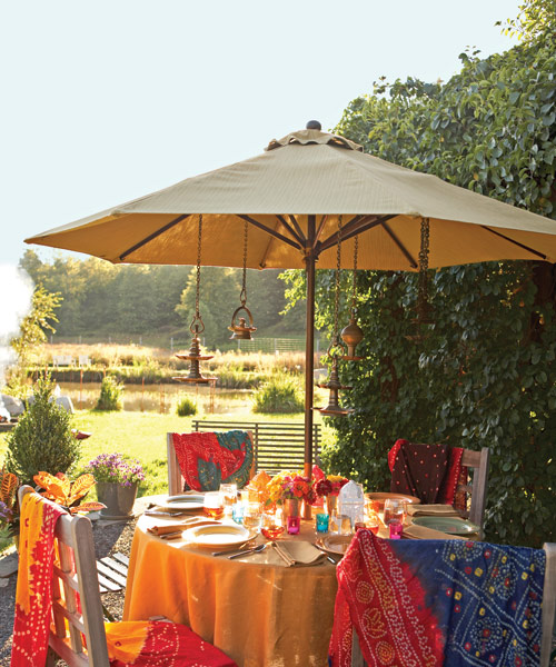 outdoor party table setting - Outdoor Decorations For Summer