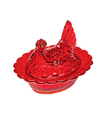 red hen candy dish - Red Home Decor Accessories