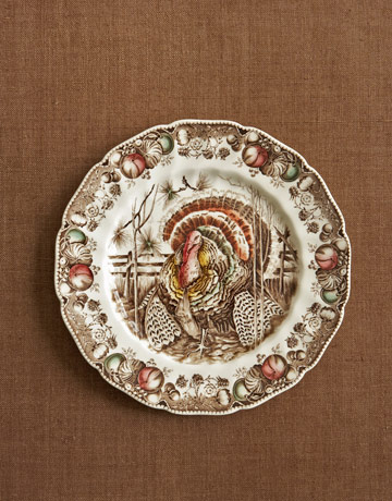 turkey china dinner plate - Thanksgiving China Patterns