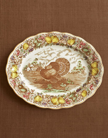 turkey platter - Thanksgiving China Patterns