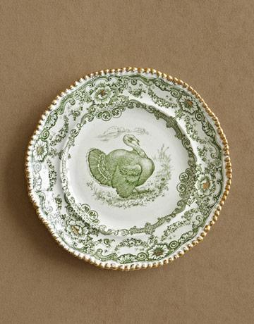 turkey china transferware - thanksgiving dinner