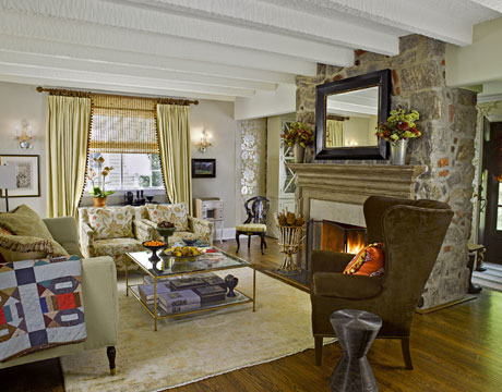 Home renovation tudor house for Tudor style fireplace