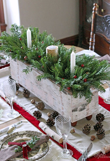 Christmas table settings decorations and centerpieces