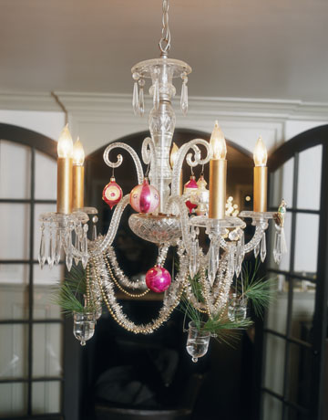 Decorate chandelier design decoration decorate chandelier alluring holiday decorating with christmas ornaments 2017 aloadofball Image collections