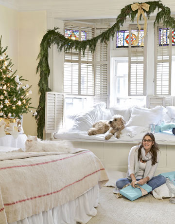 Girl Sitting On A Bedroom Floor With Presents With A Cat And Dog Part 57