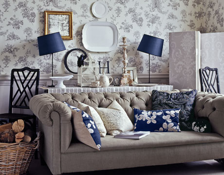 Decorating in english country style for English country living room ideas