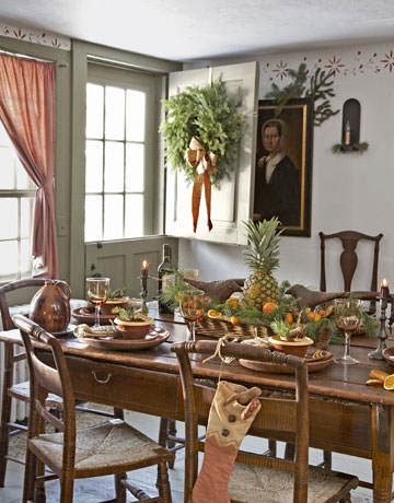 Colonial Dining Room Decor.  Ideas
