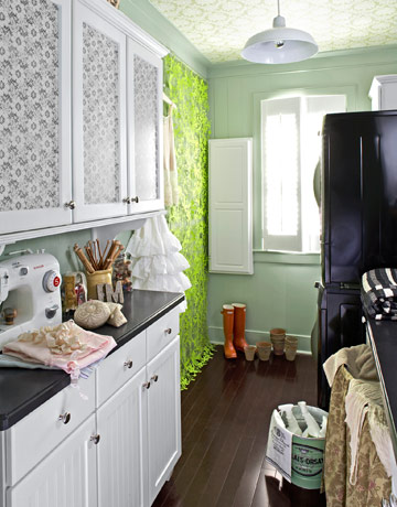 Utility Room Design Ideas contemporary laundry room idea in seattle Light Green Laundry Room