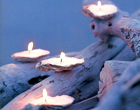 Candles in Seashells - Candle Crafts