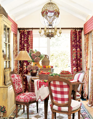 Curtains Ideas country kitchen curtains ideas : Decorating with Red - Home Decor in Red
