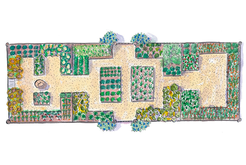 16 free garden plans garden design ideas for Garden plot designs