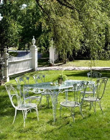 Garden Furniture Vintage wrought iron outdoor furniture - vintage iron patio furniture