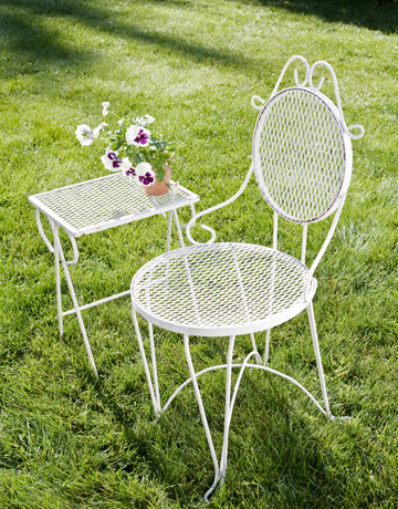 wrought iron garden furniture antique. white iron chair and table wrought garden furniture antique p