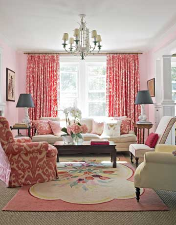 Superior Pink Living Room