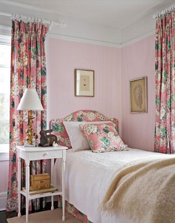 Pink home d cor pink decorating ideas - Habitaciones shabby chic ...