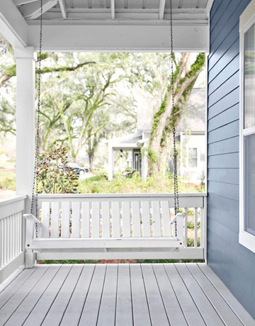 white porch swing - Front Porch Swing
