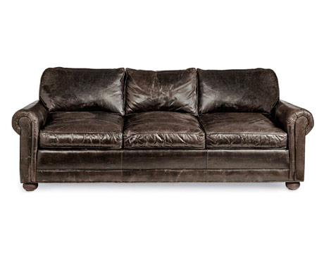 Gallery For Brown Leather Couch