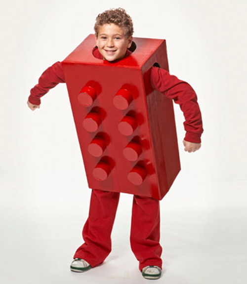 Lego costume boy halloween costume for Easy homemade costume ideas for kids