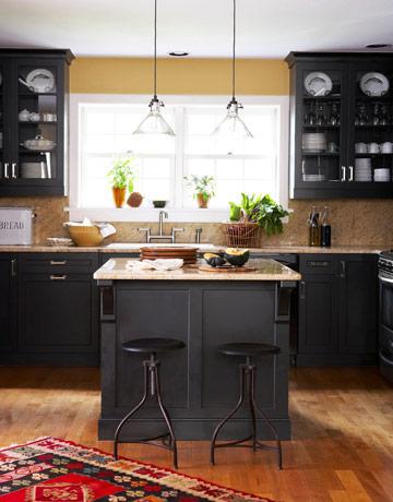 Rustic Black Kitchen adirondack style - rustic decorating
