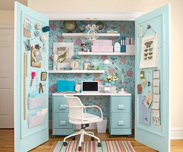 Awe Inspiring How To Turn A Closet Into An Office Closet Makeover Largest Home Design Picture Inspirations Pitcheantrous