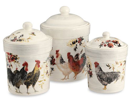 Rooster Francais Canisters
