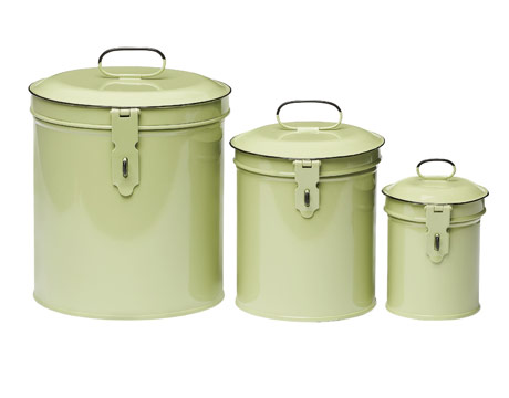 Decorative Metal Kitchen Canisters Colorful Metal Canisters For