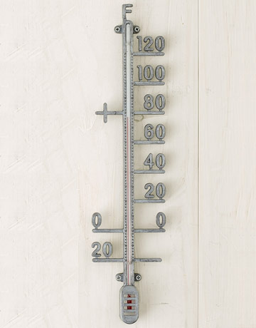 zinc outdoor thermometer