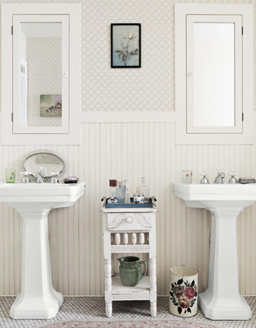 bathroom decorating ideas, designs  decor, vintage country bathroom decor