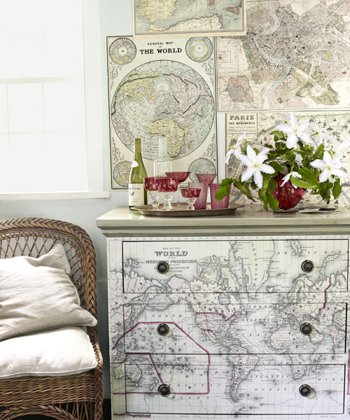 Map Home Decor Ideas For Decorating With Maps