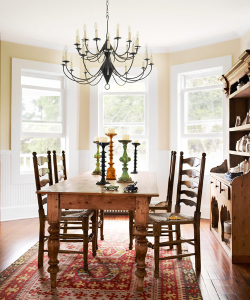 Dining room makeovers easy makeover ideas for dining rooms for Farmhouse dining room ideas