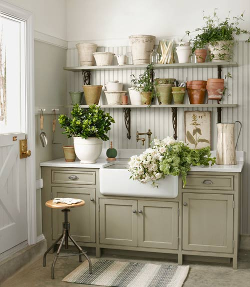 Country Living Backyard Ideas : The Garage Turned Garden Shed Storage Ideas